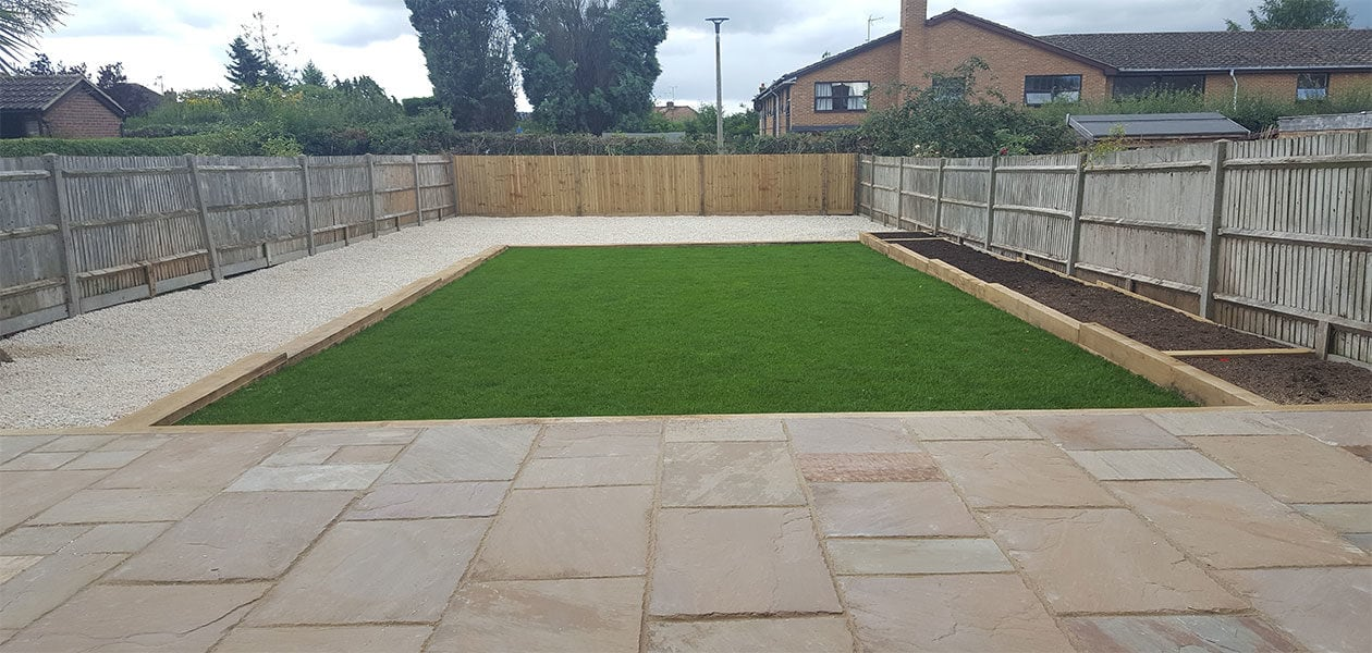 New Patio, Fencing, Sleeper Raised Flower Bed And New Lawn U2013 Burgess Hill